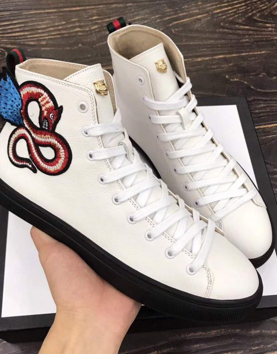 GUCCI HIGH TOP SNAKE WHITE