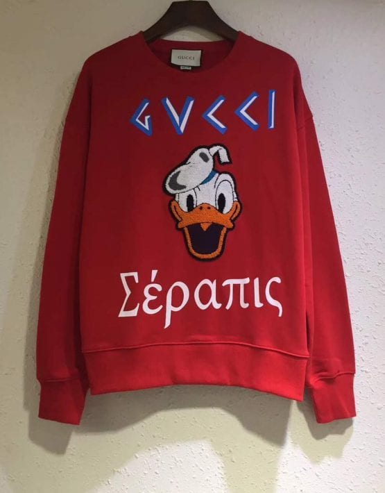 "f952023056d GUCCI ""DONALD DUCK"" RED SWEATER Hoodies ..."