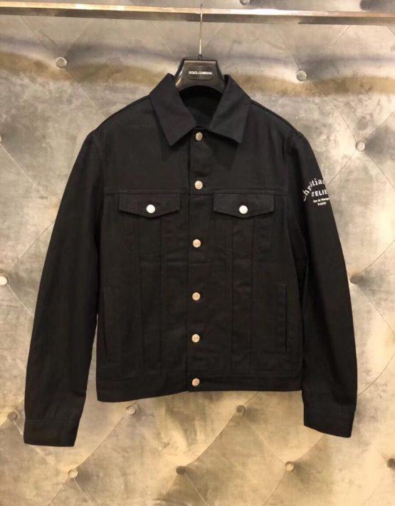 denim shirt black