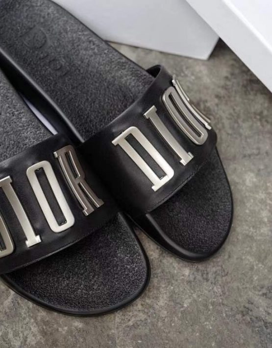 top brands online sale variety design Dior Black Slippers