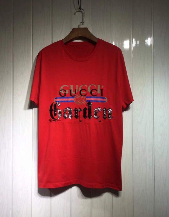 45b29307a158 Gucci 'Garden' Red T-Shirt | Billionairemart
