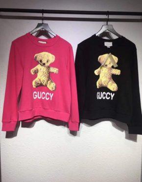 1414a0866cd Gucci Bear Sweater Black Pink