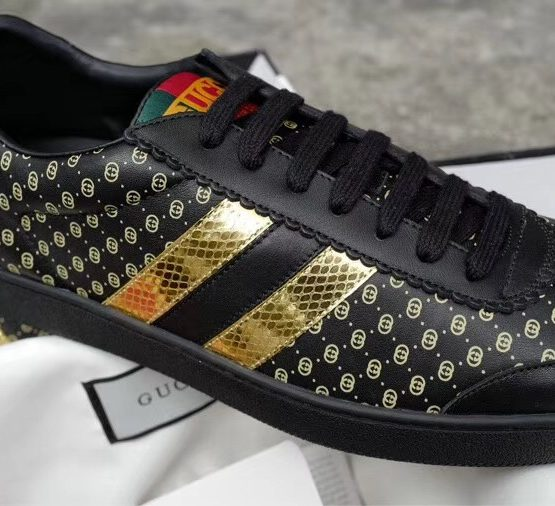 black and gold gucci sneakers off 52