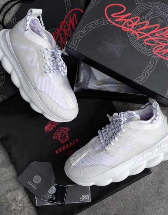 Versace Chain Reaction Sneaker Full White